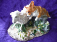 Eve Pearce Hand-Made Model - Corgi & Sheep * SALE *
